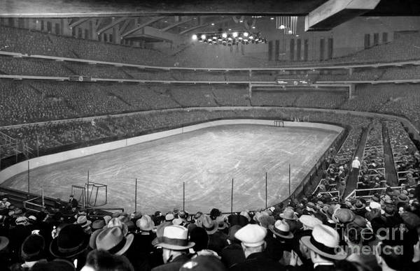 Wall Art - Photograph - Chicago Stadium Prepared For A Chicago Blackhawks Game by Celestial Images