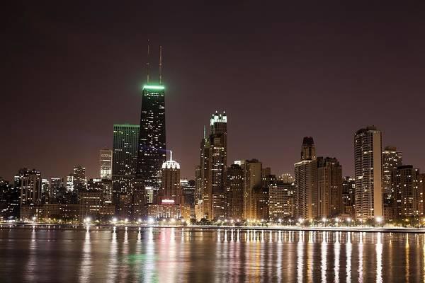 Skyline Digital Art - Chicago by Super Lovely