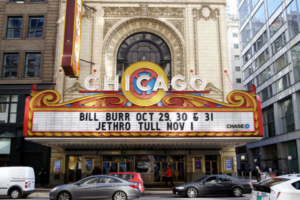 Wall Art - Photograph - Chicago Theater Marquee Jethro Tull Signage by Thomas Woolworth