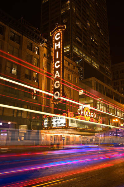 Wall Art - Photograph - Chicago Theater Marquee by Steve Gadomski
