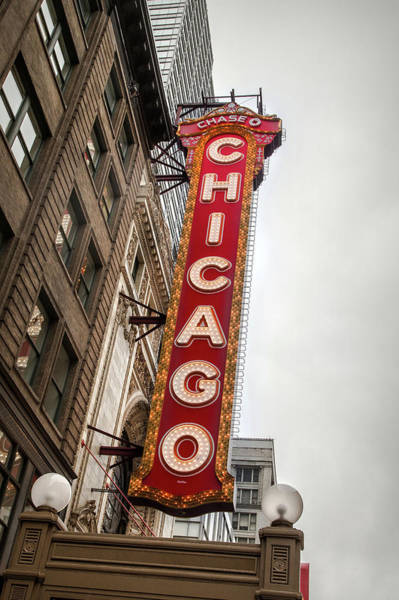 Photograph - Chicago Theater Marquis by Ryan Smith