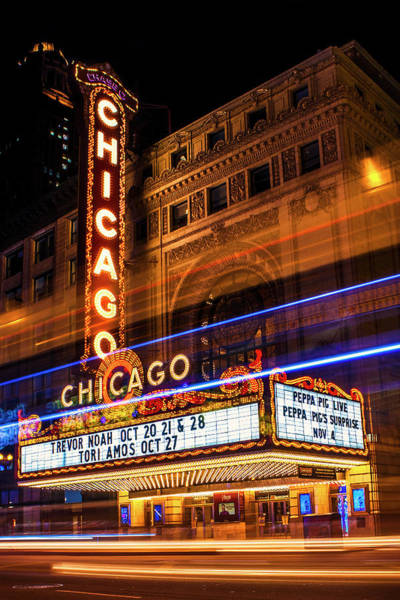 Wall Art - Photograph - Chicago Theatre by Andrew Soundarajan