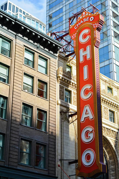 Photograph - Chicago Theatre Marquee by Kyle Hanson
