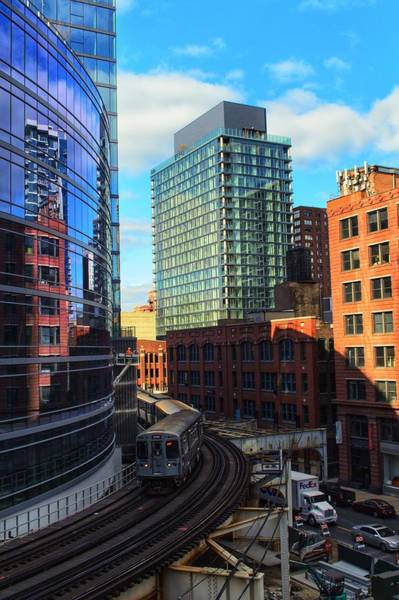 Photograph - Chicago Train by Joseph Caban