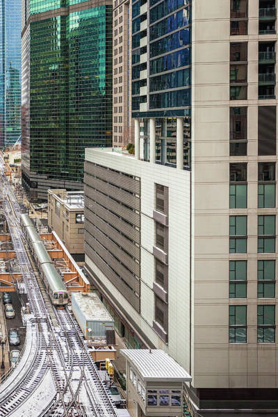 Commuter Rail Wall Art - Photograph - Chicago Train Table by Andrew Soundarajan