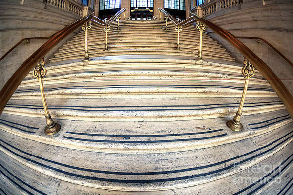 Wall Art - Photograph - Chicago Union Station Stairs by John Rizzuto