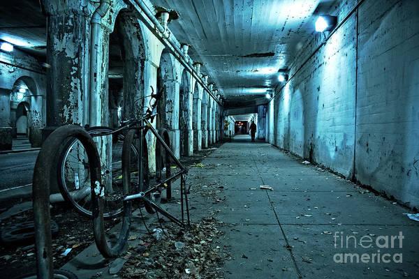 Chicago Viaduct At Night Art Print