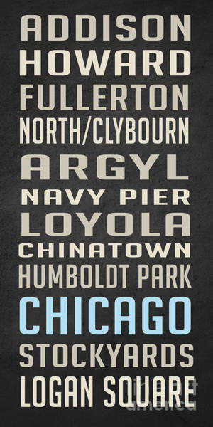 Pier Digital Art - Chicago Vintage Subway Signs by Edward Fielding