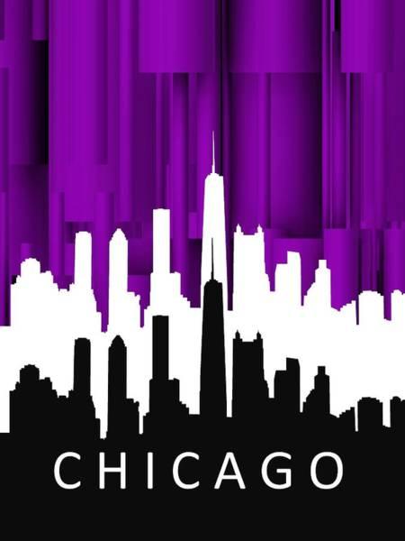 Chicago Violet In Negative Art Print