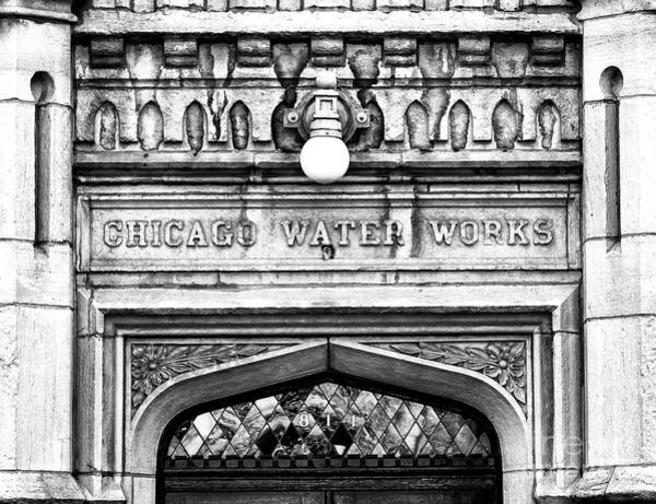Wall Art - Photograph - Chicago Water Works Facade by John Rizzuto