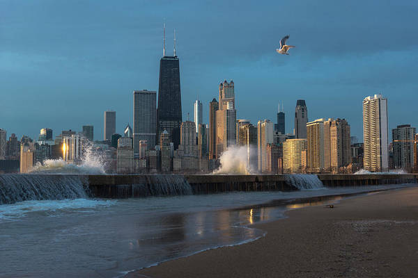 Wall Art - Photograph - Chicago Waves by Donald Schwartz