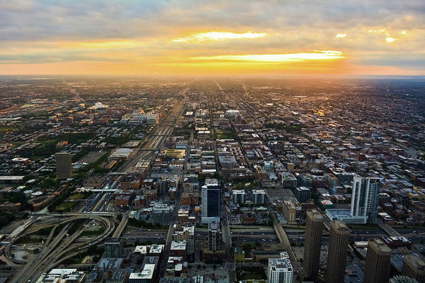 Photograph - Chicago West Side Sunset by Kyle Hanson