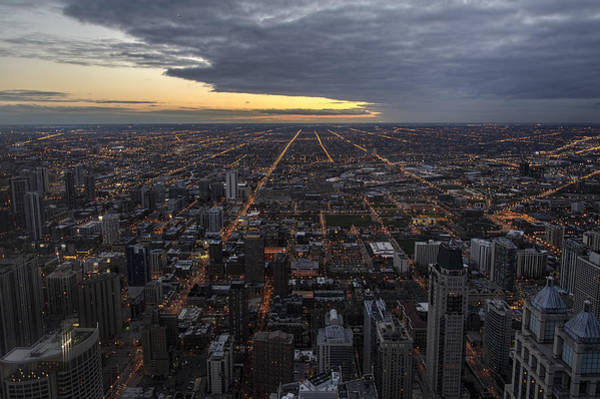 Photograph - Chicago Westward by Steven Sparks
