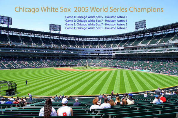 Wall Art - Mixed Media - Chicago White Sox 2005 World Series Champions 04 by Thomas Woolworth