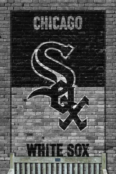 Wall Art - Painting - Chicago White Sox Brick Wall by Joe Hamilton