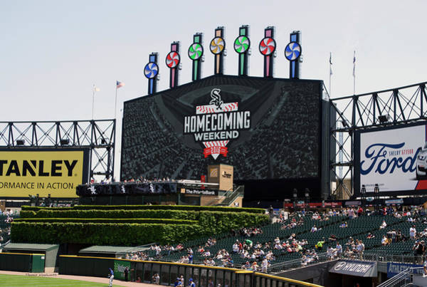 Cell Phone Cases Mixed Media - Chicago White Sox Home Coming Weekend Scoreboard by Thomas Woolworth