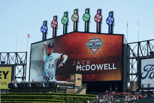 Cell Phone Cases Mixed Media - Chicago White Sox Jack Mcdowell Scoreboard by Thomas Woolworth