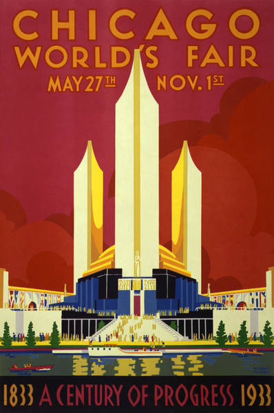Fair Painting - Chicago World's Fair - 1933 by War Is Hell Store