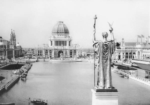 Wall Art - Photograph - Chicago World's Fair - The White City 1893 by War Is Hell Store