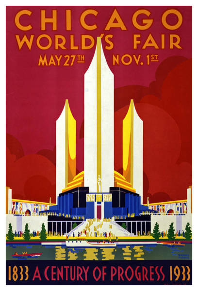 Fair Painting - Chicago, World's Fair, Vintage Travel Poster by Long Shot