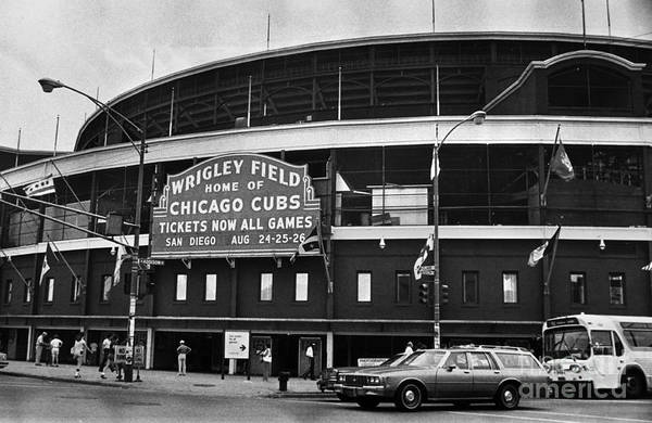 1981 Photograph - Chicago: Wrigley Field by Granger