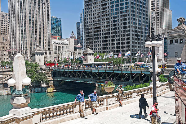 Photograph - Chicago's Dusable Bridge On N. Michigan Avenue by Ginger Wakem