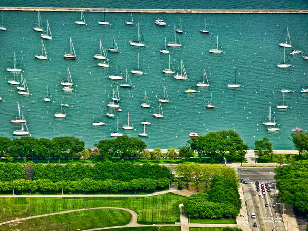 Photograph - Chicago's Dusable Harbor  by Ginger Wakem