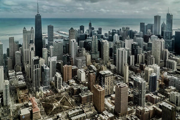 Photograph - Chicago's Gold Coast From A Helicopter by Sven Brogren