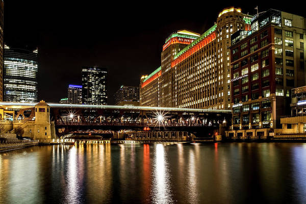 Photograph - Chicago's Merchandise Mart At Night by Sven Brogren
