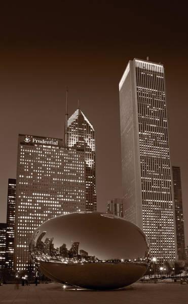 Millennium Park Photograph - Chicagos Millennium Park Bw by Steve Gadomski
