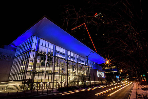 Photograph - Chicago's New Win Trust Arena At Night by Sven Brogren