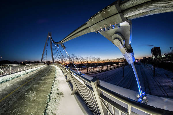 Photograph - Chicago's New 35th Street Ped Bridge At Dawn by Sven Brogren
