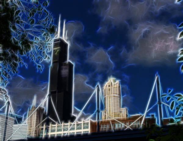 Digital Art - Chicago's Sears Tower by Chris Flees