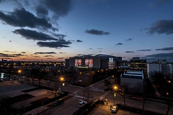Photograph - Chicago's United Center At Dusk  by Sven Brogren