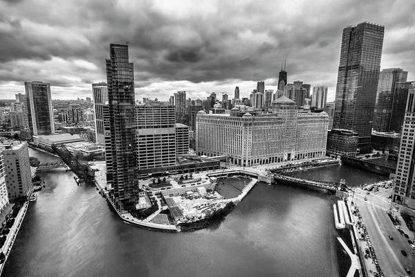 Photograph - Chicago's Wolf Point From The 27th Floor by Sven Brogren