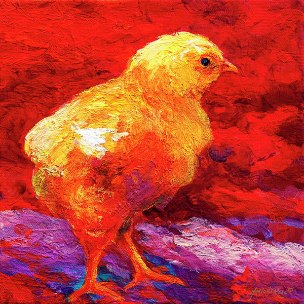 Hen Painting - Chic Flic Vi by Marion Rose