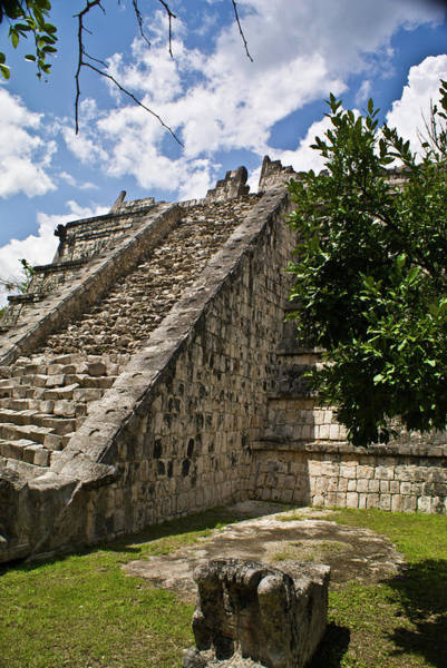 Solidity Photograph - Chichen Itza Pyrmid 1 by Douglas Barnett