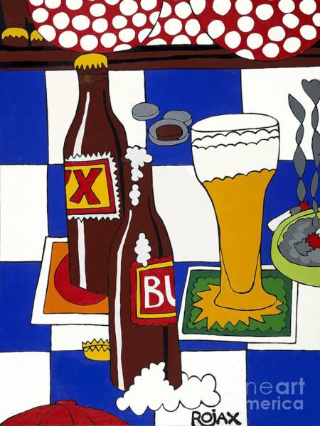 Painting - Chichis Y Cervesas by Rojax Art