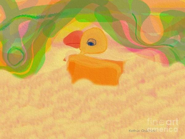 Digital Art - Chick-a Dee by Kathie Chicoine