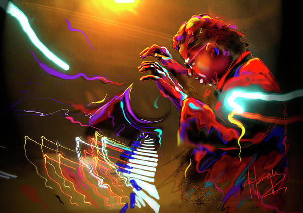 Sax Painting - Chick Corea by DC Langer