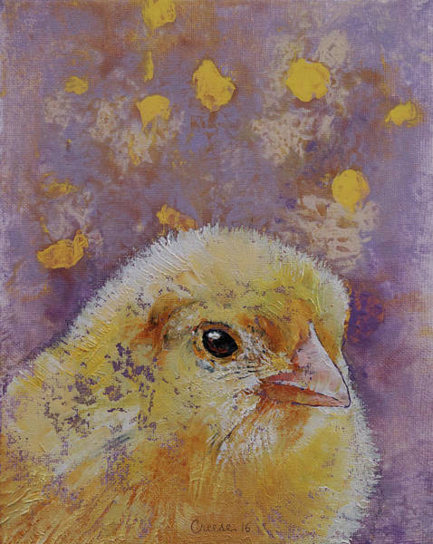 Chicken Painting - Chick by Michael Creese