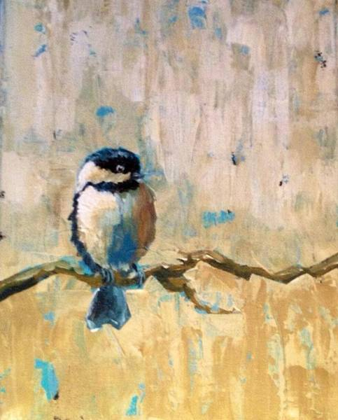 Wall Art - Painting - Chickadee 1 by Jana Caissie