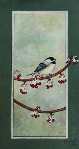 Painting - Chickadee by Elizabeth Mundaden