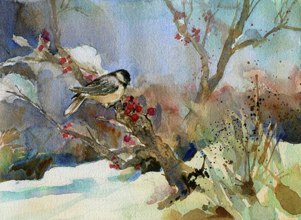 Painting - Chickadee by Garden Gate magazine