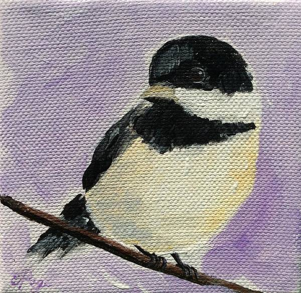 Painting - Chickadee Iv by Emily Page