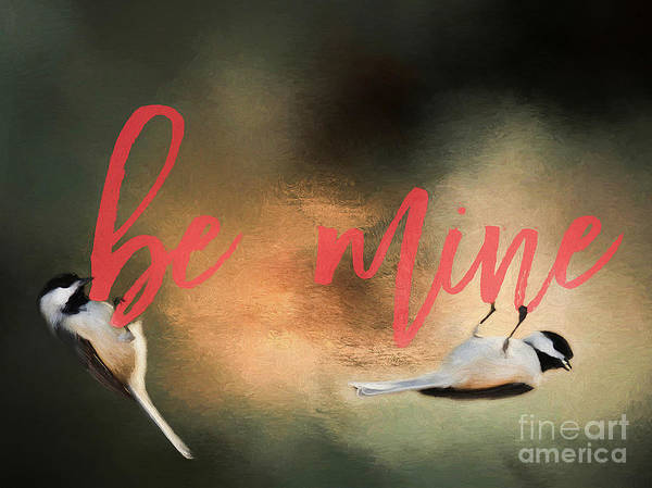Wall Art - Photograph - Chickadee Love by Darren Fisher