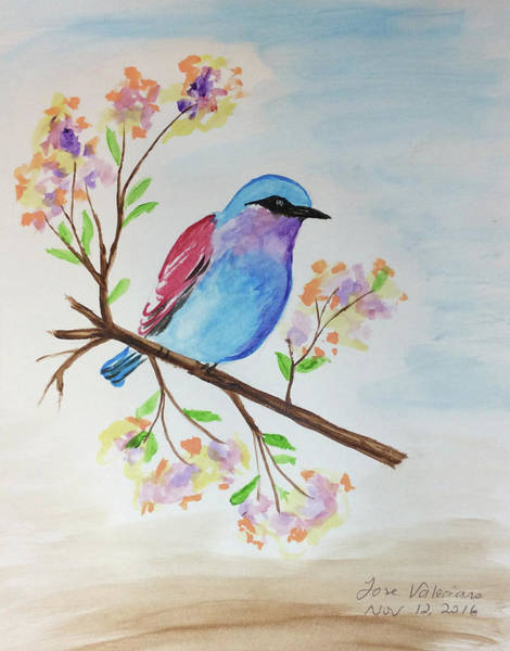 Painting - Chickadee On A Branch by M Valeriano
