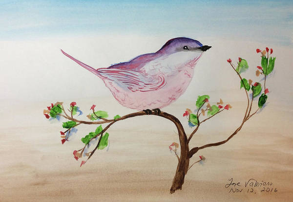 Painting - Chickadee Standing On A Branch Looking by M Valeriano