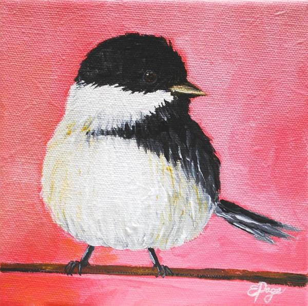 Painting - Chickadee V by Emily Page