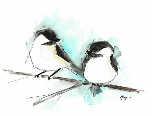 Painting - Chickadees II by Emily Page